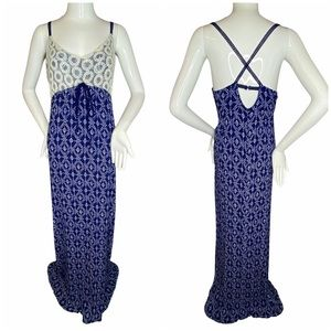 4/$25 Altar'd State Maxi Blue Lace Dress Large